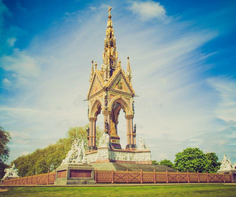 Retro kijk Albert Memorial, Londen royalty-vrije stock foto