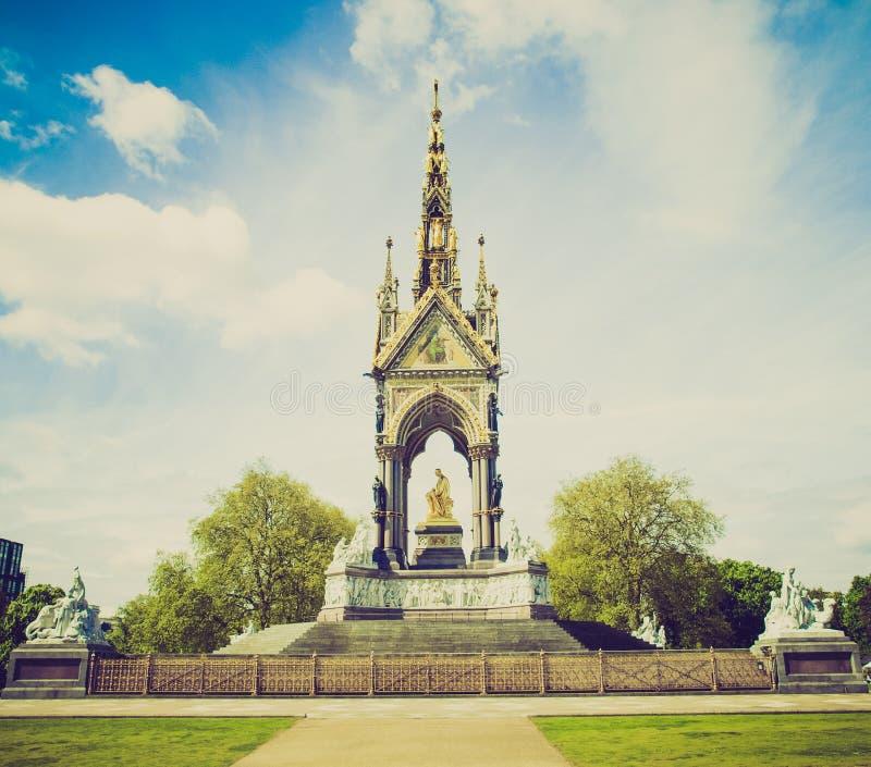 Retro kijk Albert Memorial, Londen stock foto