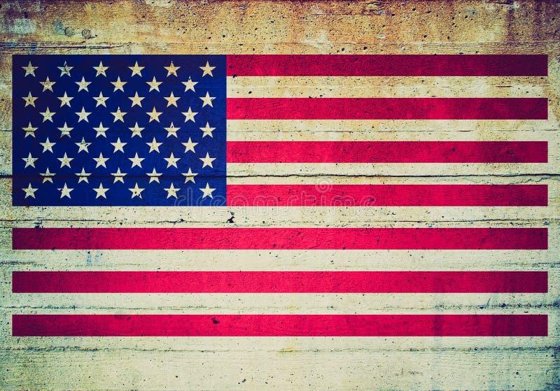 Retro kijk de vlag van de V.S. stock afbeeldingen