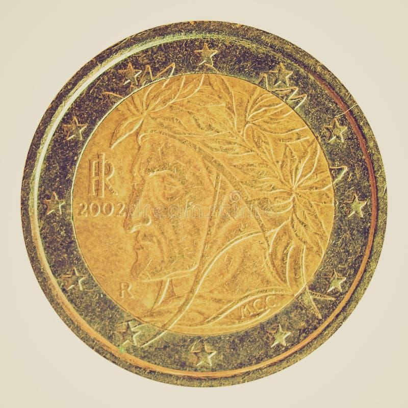Retro kijk Euro beeld royalty-vrije stock afbeeldingen