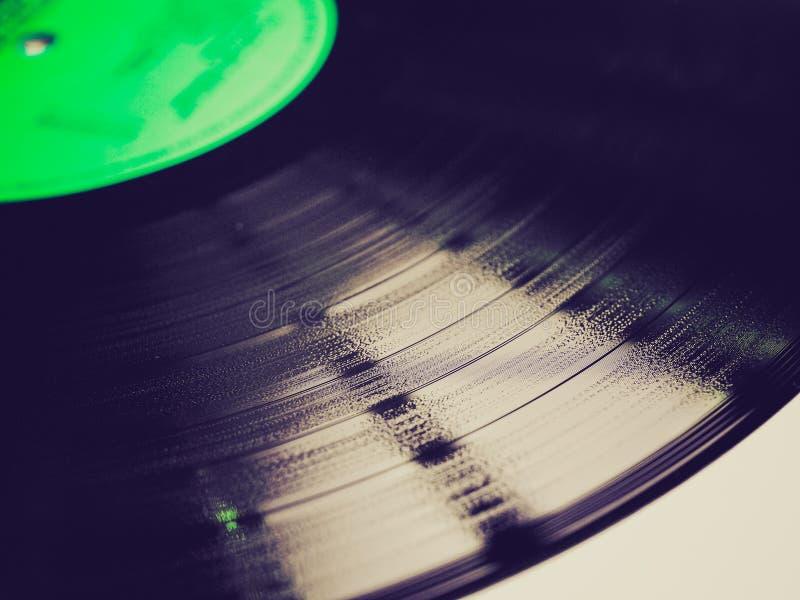 Retro kijk Vinylverslag stock foto