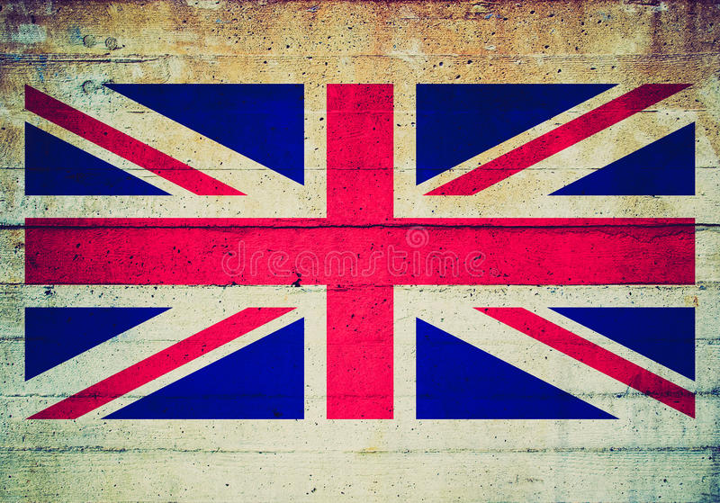 Retro kijk vlag royalty-vrije stock fotografie