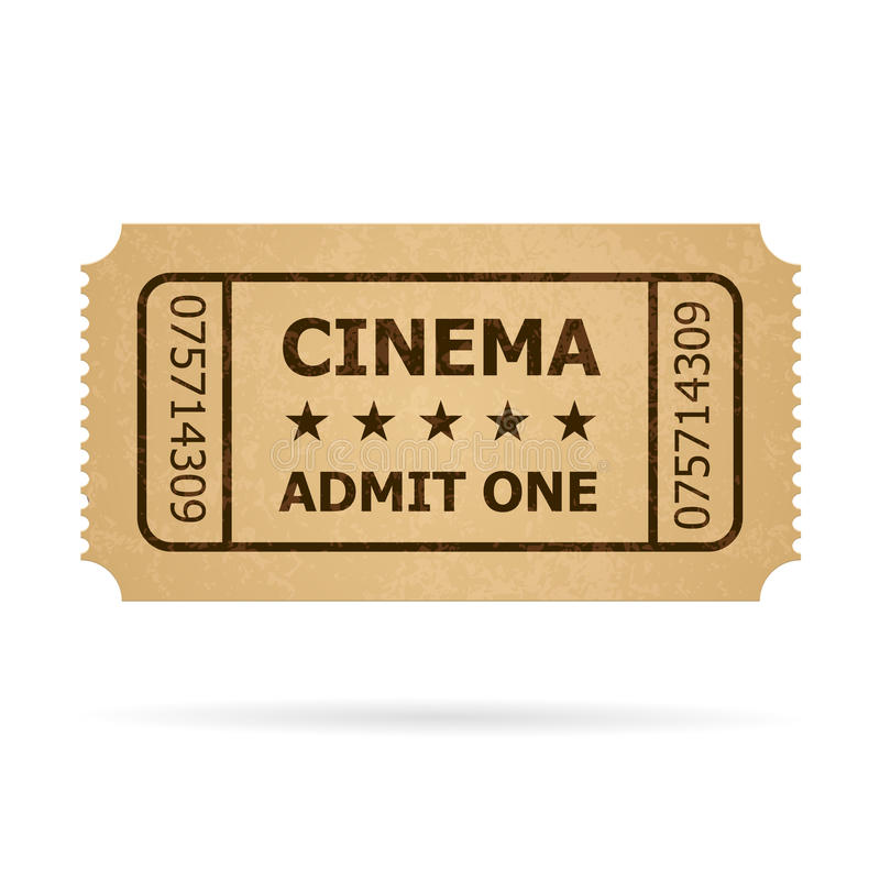Retro Kinokarte lizenzfreie abbildung