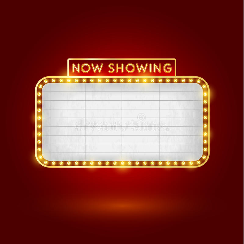 Retro- Kinozeichen