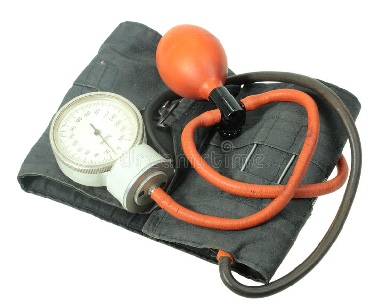 Retro Kit For Measuring Blood Pressure Royalty Free Stock Photography