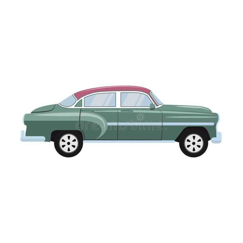 Retro klassiek oud autoontwerp stock illustratie