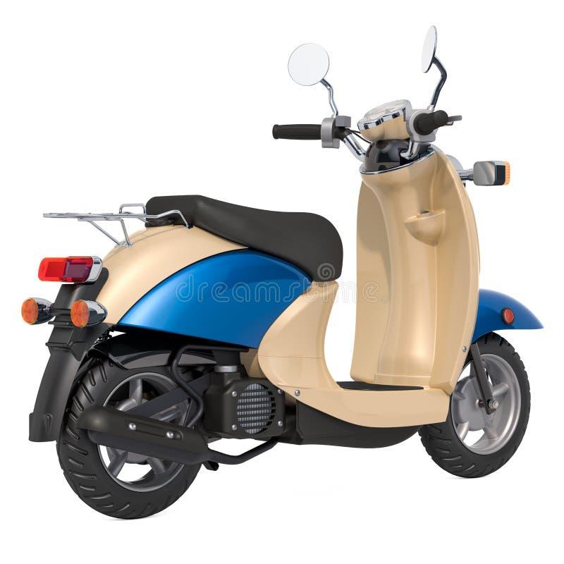 Retro klasyczna hulajnoga, moped ?wiadczenia 3 d ilustracji