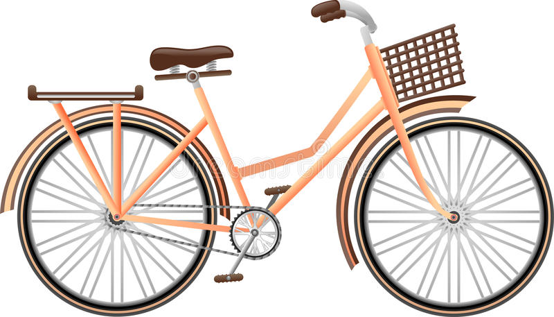 Retro klasyczny bicykl royalty ilustracja