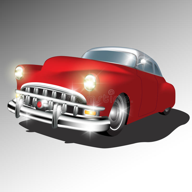 Retro klasyczny samochód ilustracji