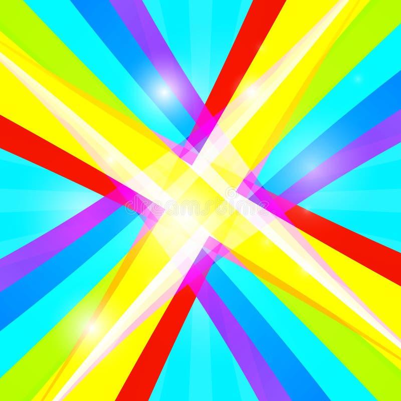Retro kleurrijke achtergrond vector illustratie