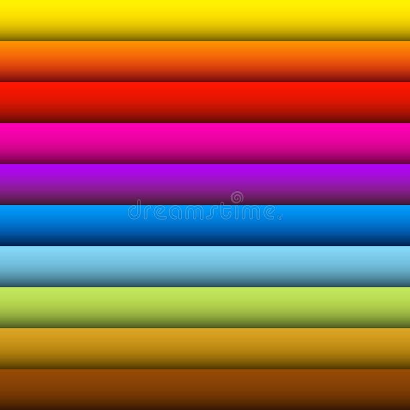 Retro Kleurrijke Naadloze Achtergrond vector illustratie