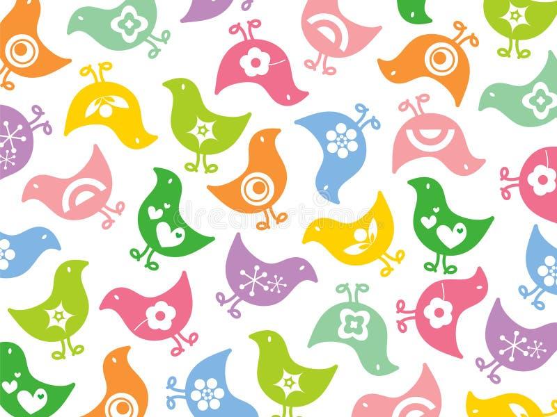 Retro Kleurrijke Pretkuikens Royalty-vrije Stock Afbeelding