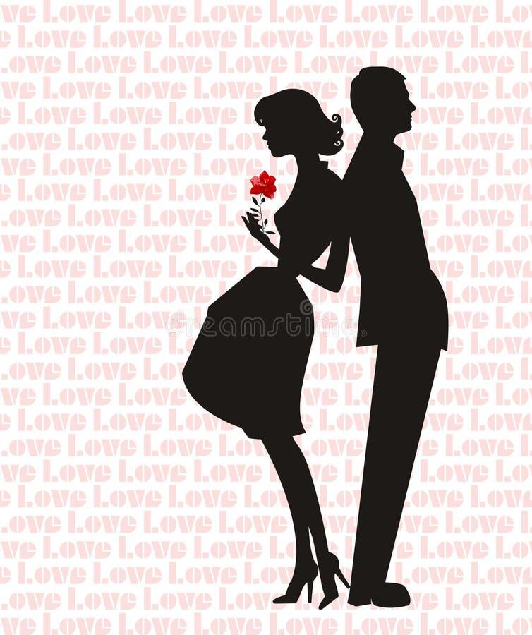 Retro kochankowie ilustracji
