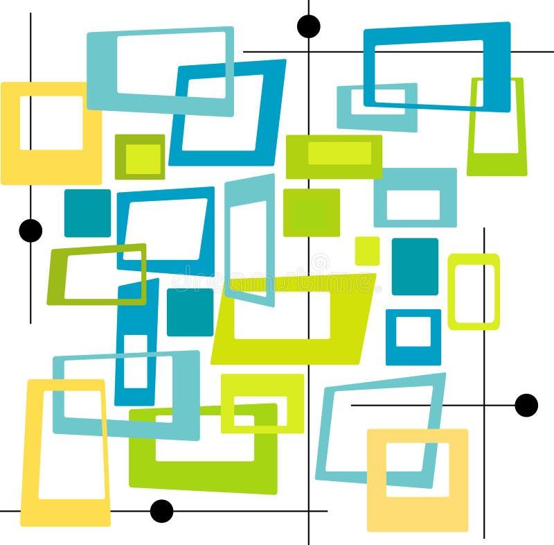 Retro Koele Vierkanten van Kleuren (Vec vector illustratie