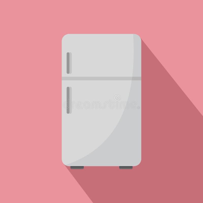 Retro koelkastpictogram, vlakke stijl vector illustratie