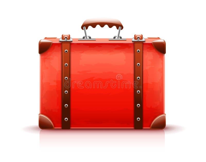 Retro- Koffer Gepäcktasche für Reise Vektor lizenzfreie abbildung