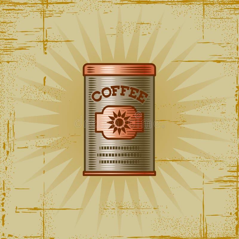 Retro Koffie kan vector illustratie