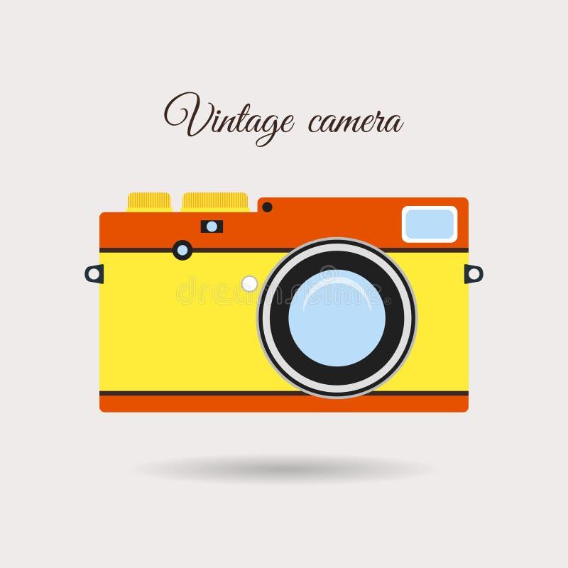 Retro kolorowa kamery ikona ilustracja wektor