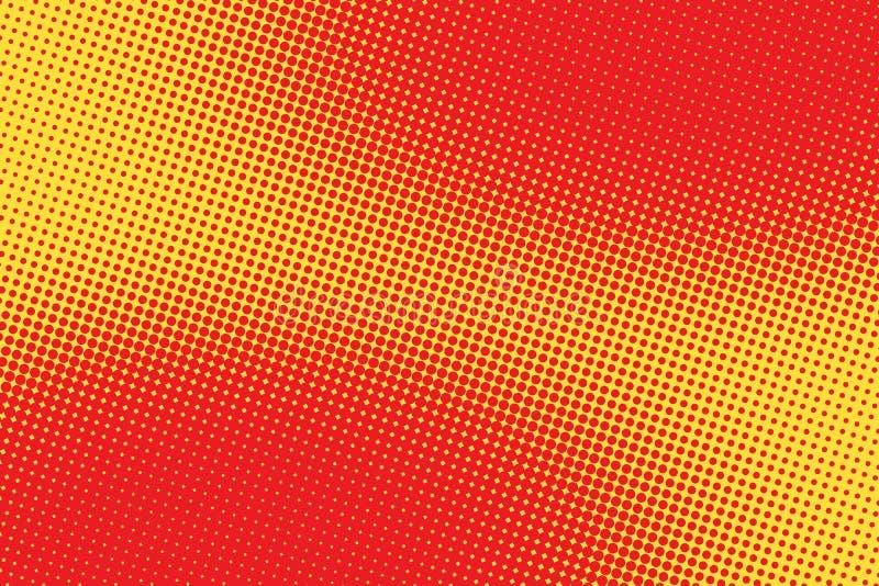 Retro komiczny czerwieni menchii tła raster gradientu halftone ilustracja wektor
