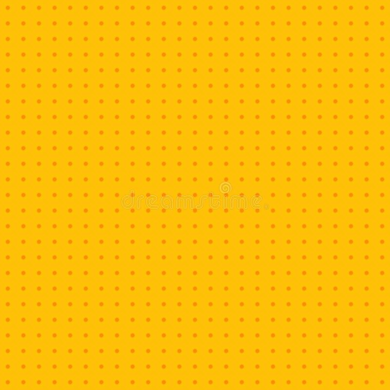 Retro- komisches gelbes Hintergrundraster-Steigungshalbton, Vektor auf Lager lizenzfreie abbildung