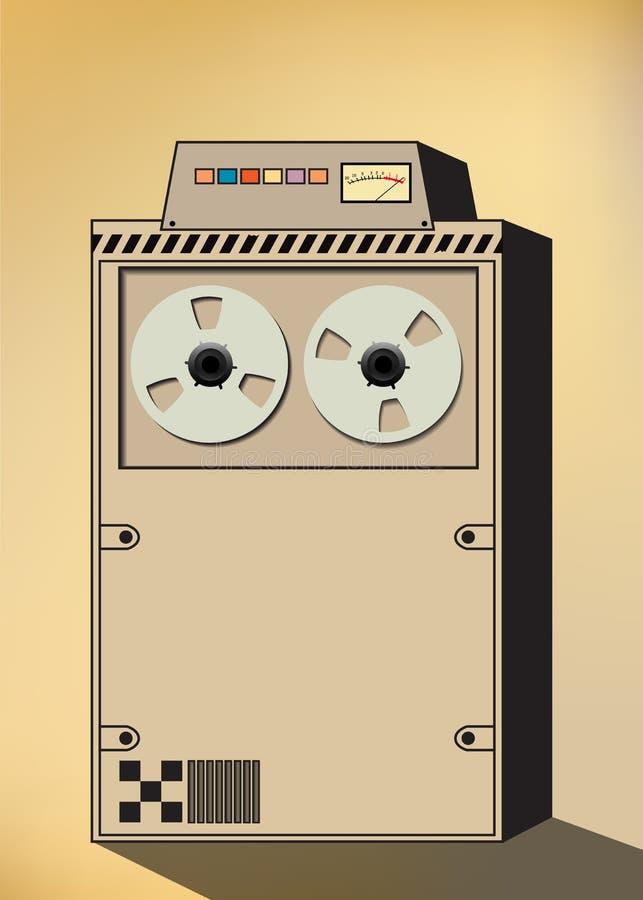 Retro komputer royalty ilustracja