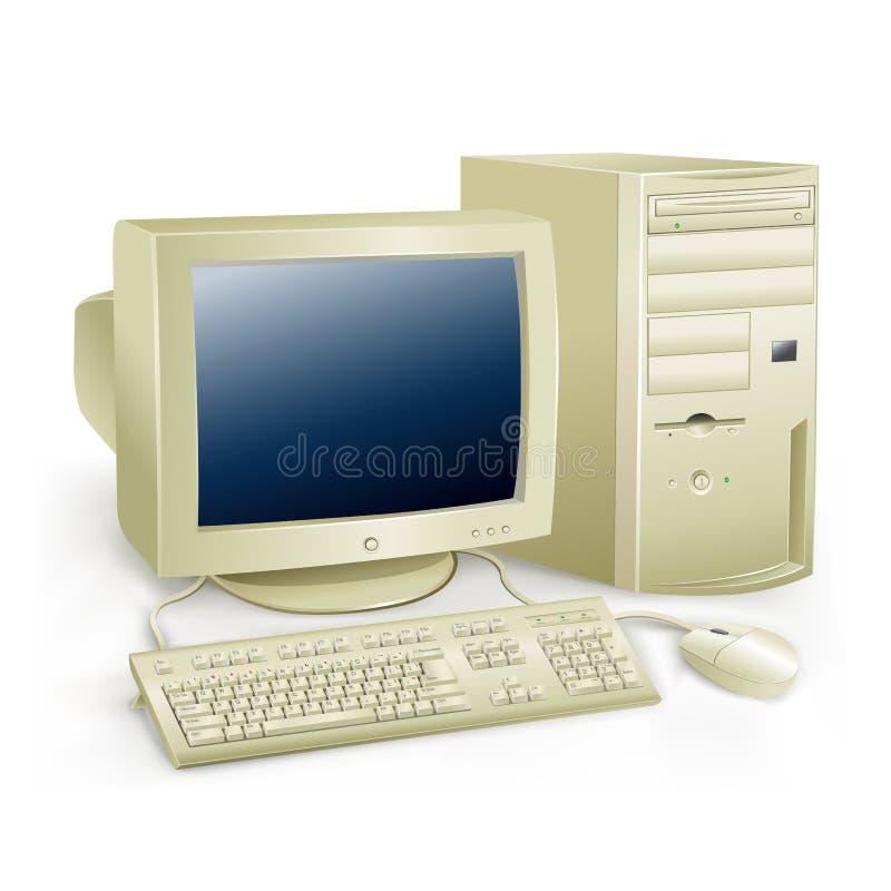 Retro komputer ilustracja wektor