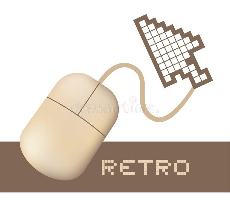 retro komputerowa mysz royalty ilustracja