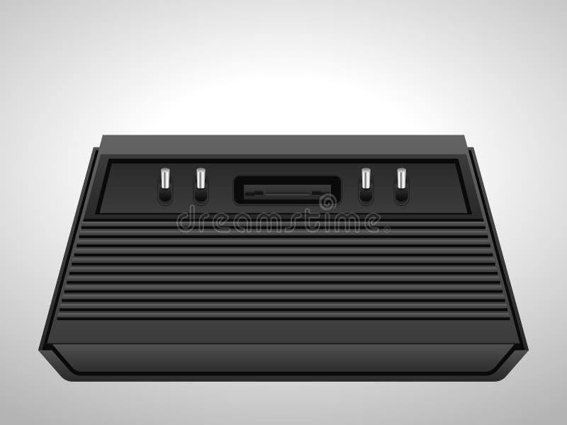 Retro konsol stock illustrationer