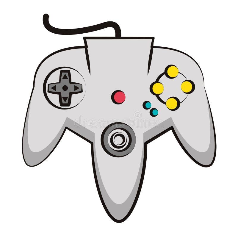 Retro- Konsole gamepad stock abbildung