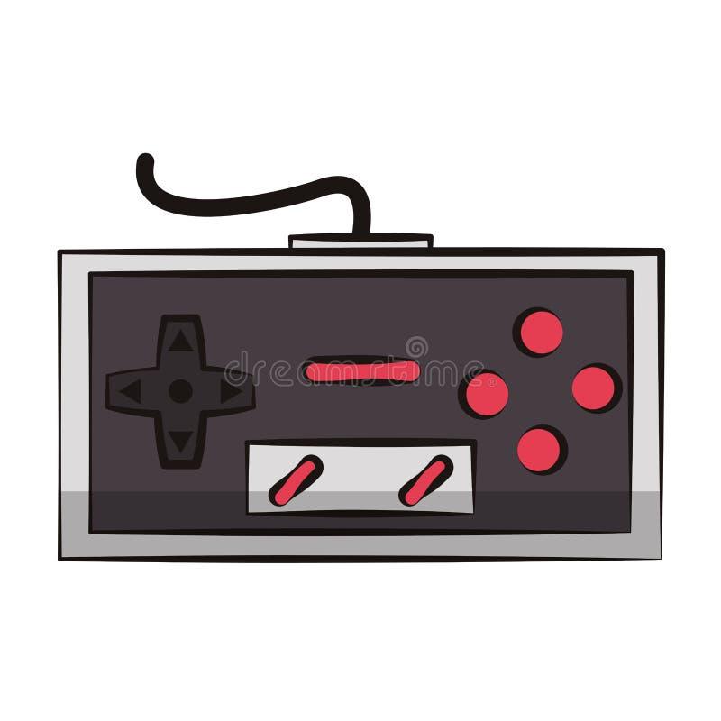 Retro- Konsole gamepad lizenzfreie abbildung