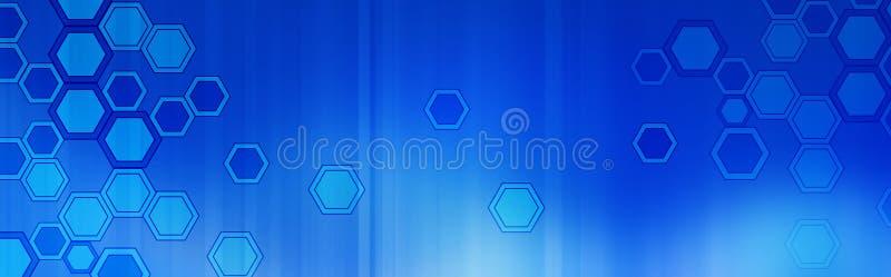 Retro kopbal/de Banner van het Web royalty-vrije illustratie