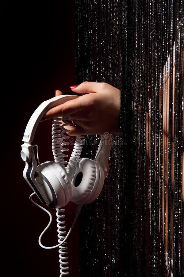 Retro- Kopfhörer lizenzfreies stockfoto