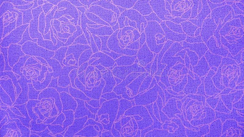 Retro Koronkowego Kwiecistego Bezszwowego róża wzoru tkaniny tła rocznika Purpurowy styl fotografia royalty free