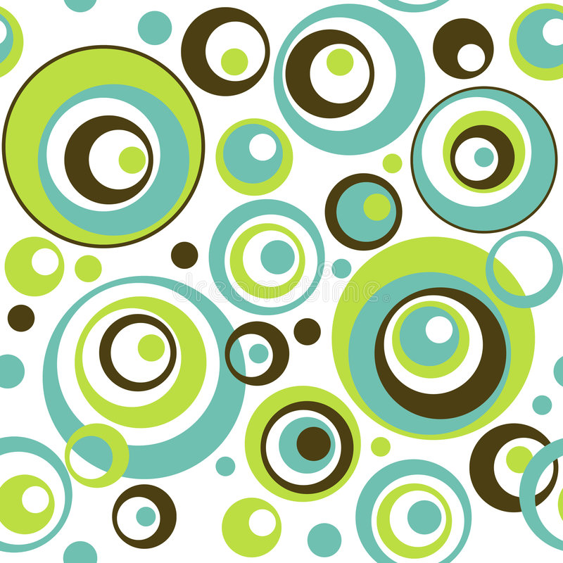 Retro- Kreis-nahtloses Tapeten-Muster lizenzfreie abbildung