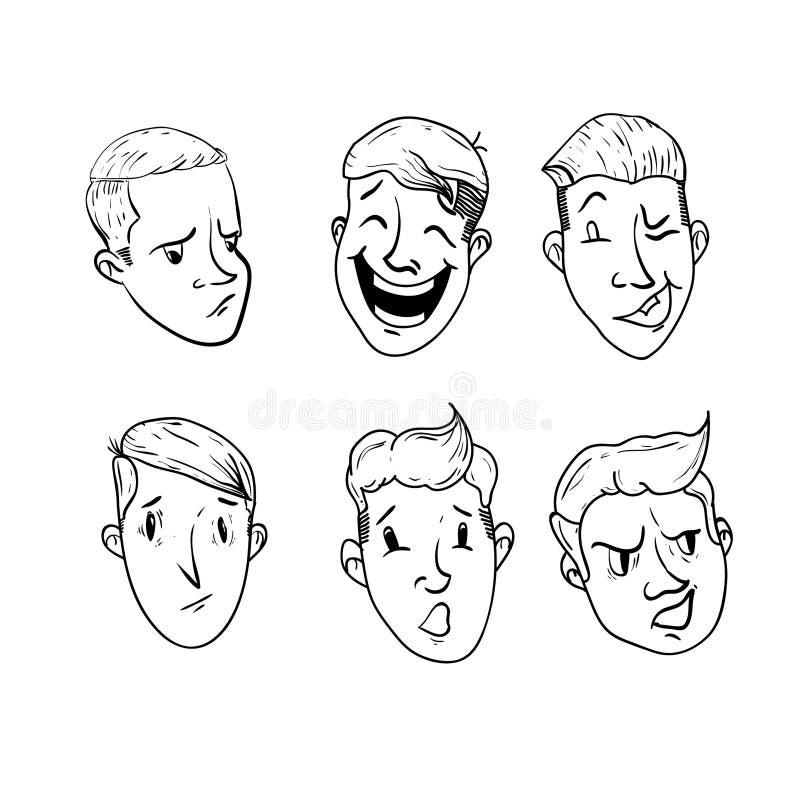 Download Retro kreskówek chłopiec ilustracji. Ilustracja złożonej z haircutting - 57669487