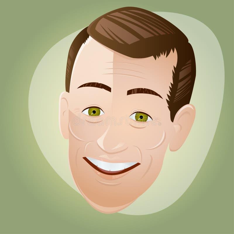 Retro kreskówka mężczyzna ilustracji