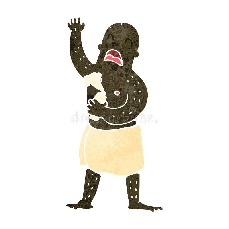 retro kreskówka mężczyzna jest ubranym ręcznika ilustracja wektor