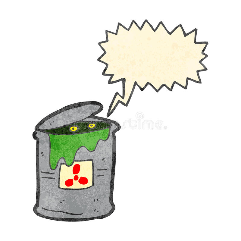 retro kreskówka potwór w odpad toksyczny royalty ilustracja