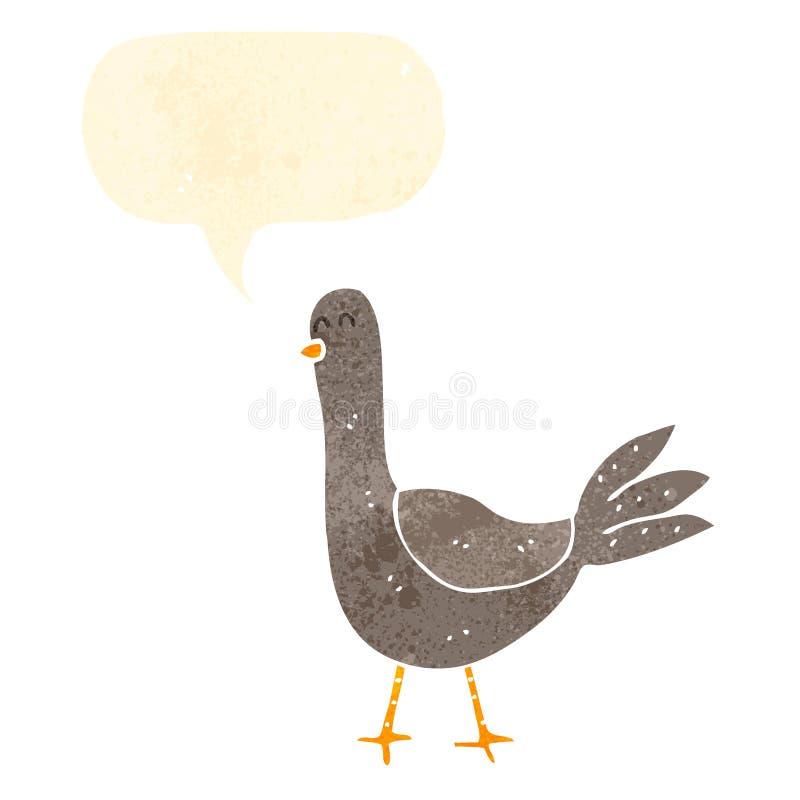 retro kreskówka ptak royalty ilustracja