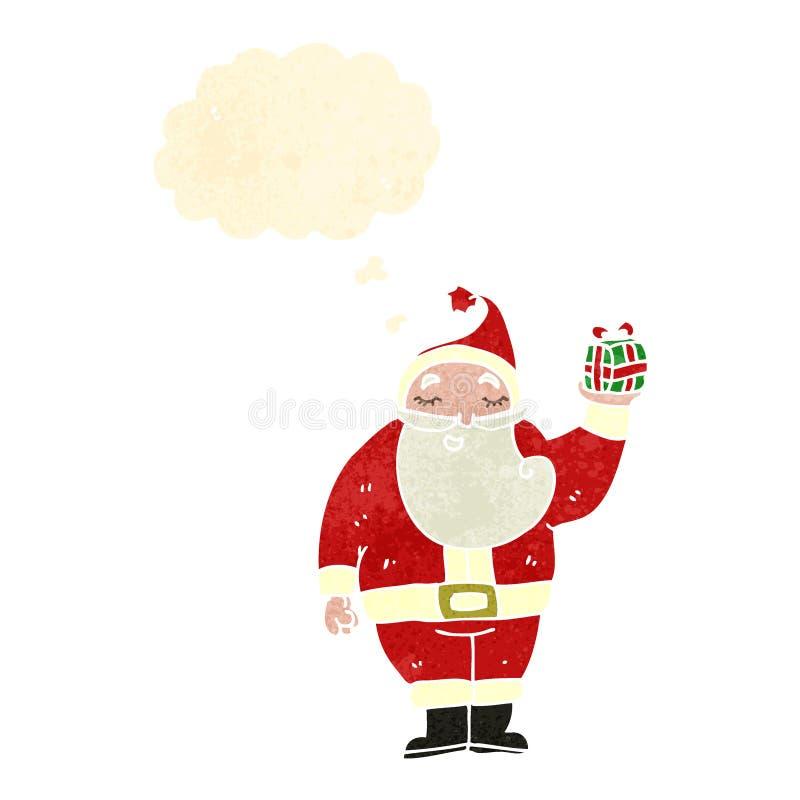 retro kreskówka Santa Claus ilustracja wektor