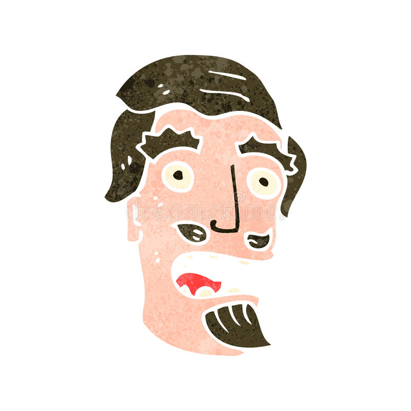 retro kreskówka szokujący mężczyzna royalty ilustracja