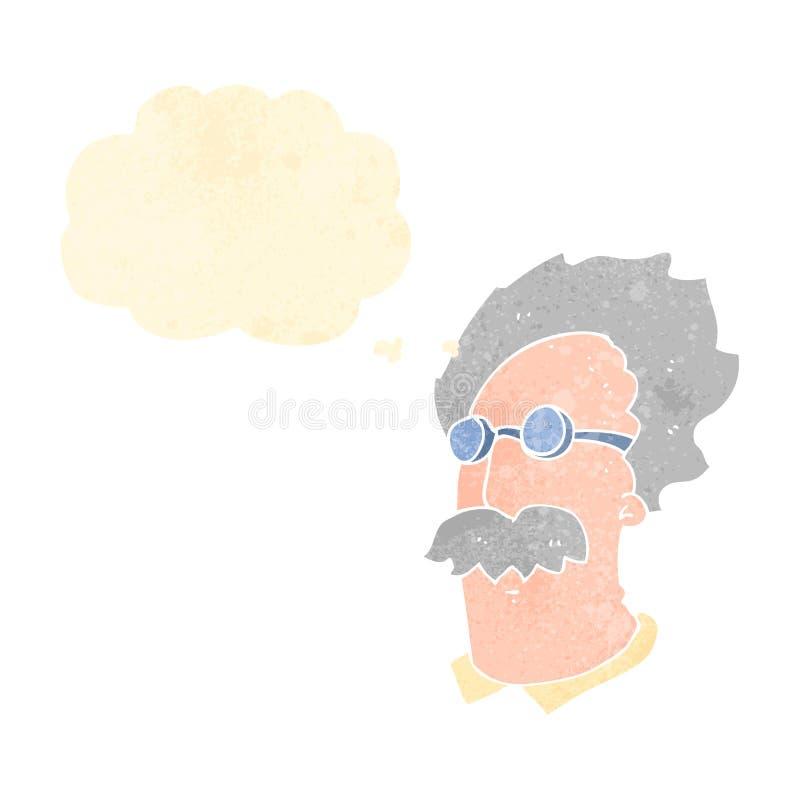 retro kreskówki Einstein naukowiec ilustracja wektor