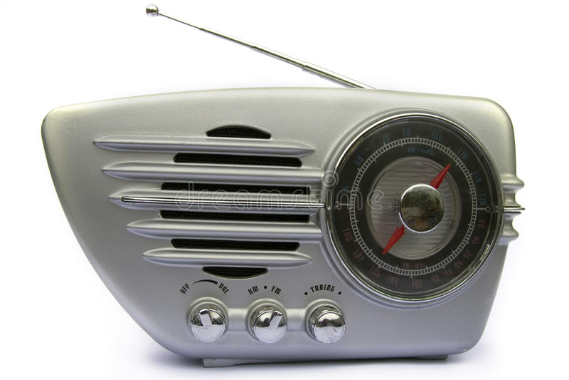 retro kromradio arkivfoto