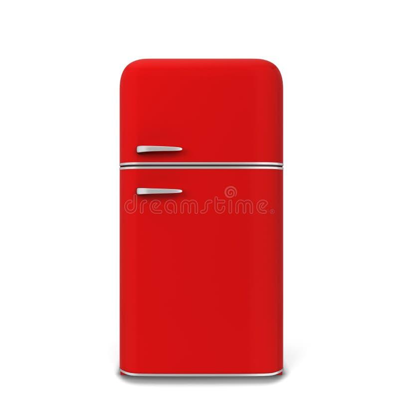 Retro kuchenny fridge royalty ilustracja