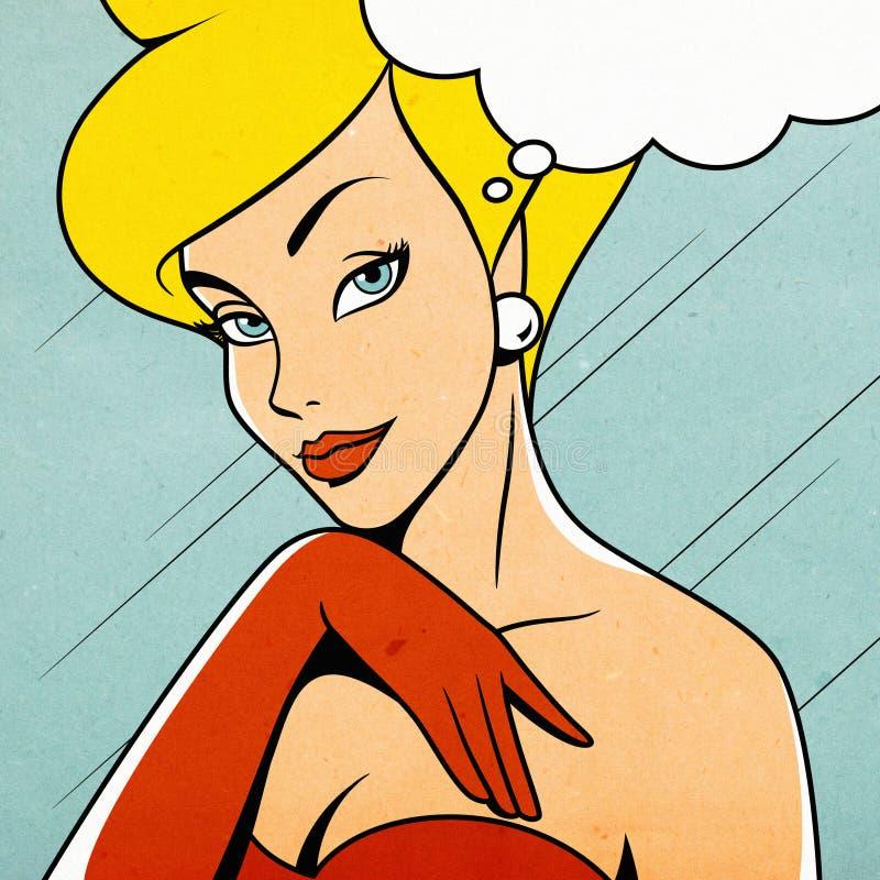 retro kvinna vektor illustrationer