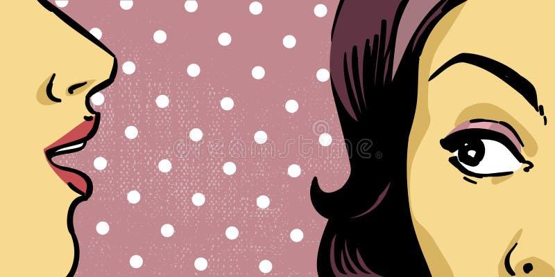 retro kvinnor vektor illustrationer