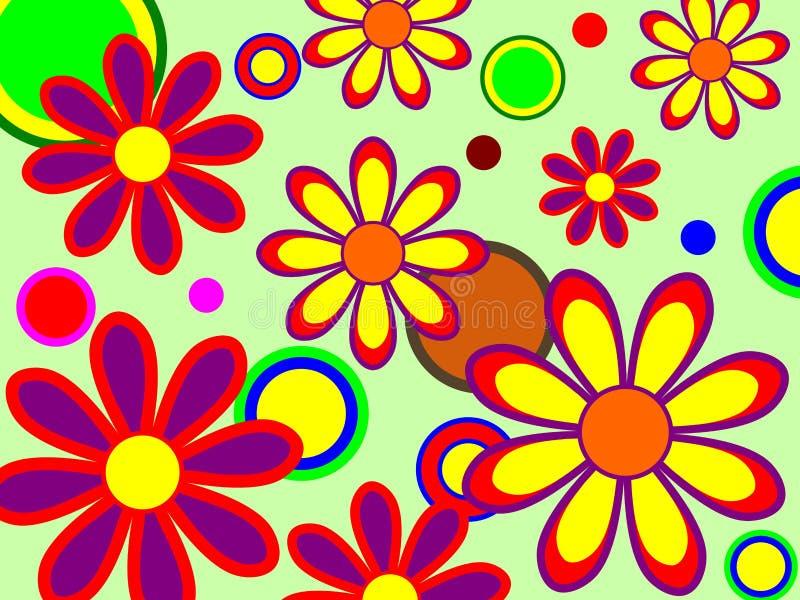 Retro Kwiaty royalty ilustracja