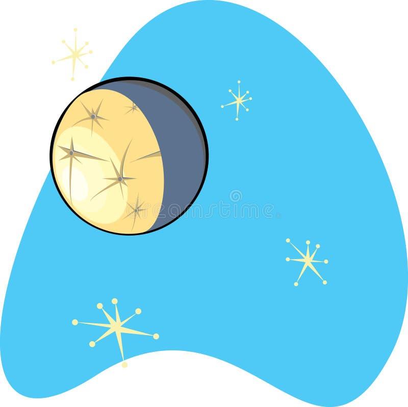 Retro Kwik van de Planeet vector illustratie