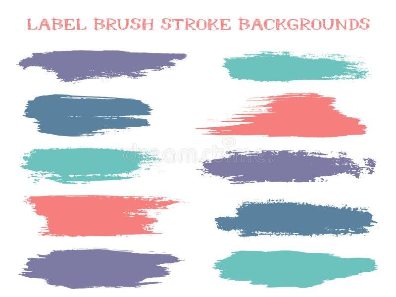 Retro label brush stroke backgrounds royalty free stock image