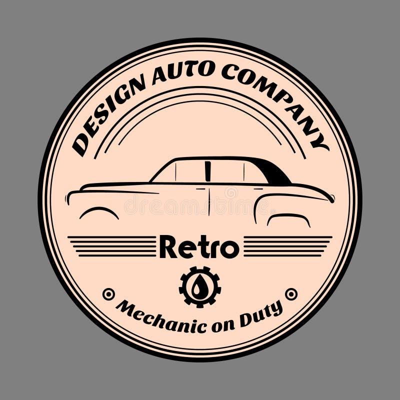 Retro label car royalty free illustration